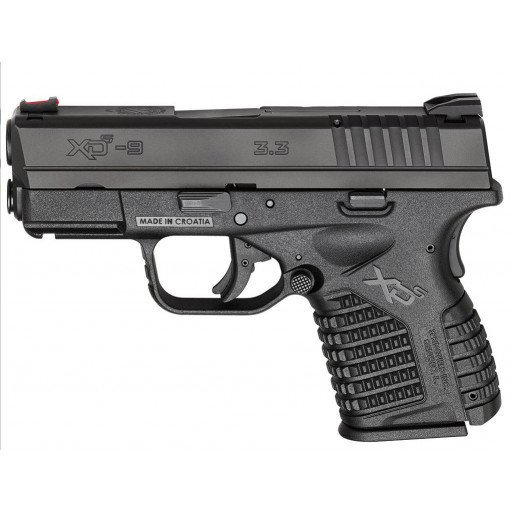 "Springfield Armory XD-S Essential 9mm DAO 3.3"" 7+1 Polymer Black"
